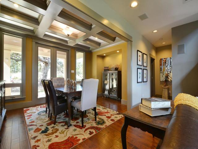 modern craftsman green home craftsman dining room austin by