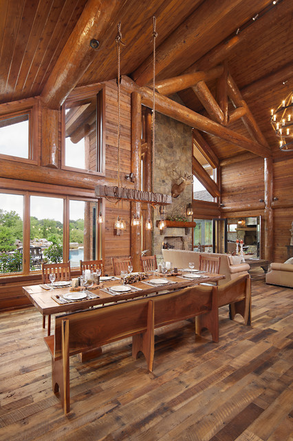 modern day log cabin the bowling green residence dining room