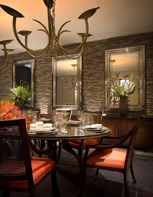 Traditional Home Dining Rooms : Modern Desert Home - Traditional - Dining Room - orange county - by ...