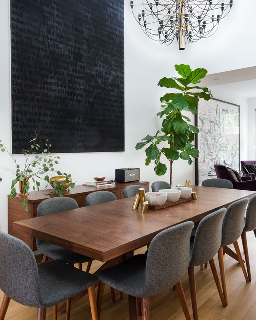 Modern Dining Area With Mid Century, Contemporary Dining Room Furniture