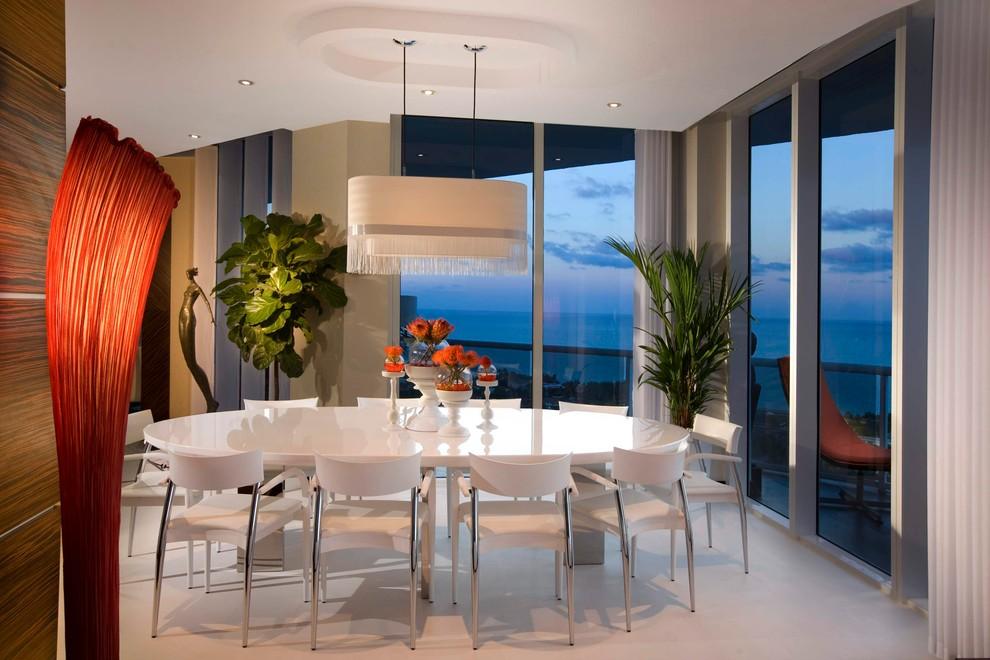 Modern Dining Room Miami Houzz, Modern Dining Room Furniture Miami Beach