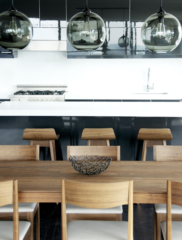 Inspiration for a modern kitchen/dining room combo remodel in Toronto