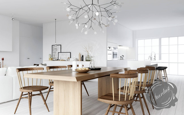 modern dining room design with moooi heracleum lamp from stardust modern dining room - Modern Dining Lamp