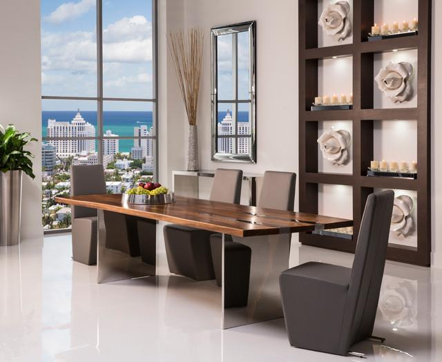 Thunder dining set modern dining room miami by el dorado furniture - Dining room sets miami ...