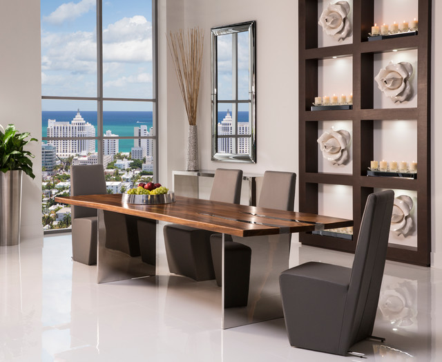 Thunder Dining Set Modern Dining Room Miami By El Dorado Furniture