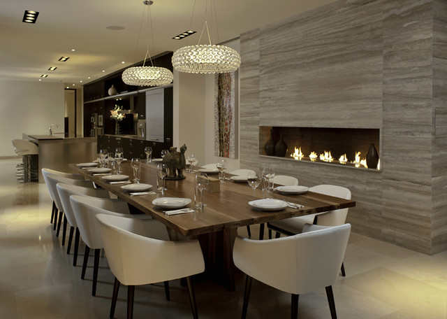 Modern dining room for Beautiful modern dining rooms