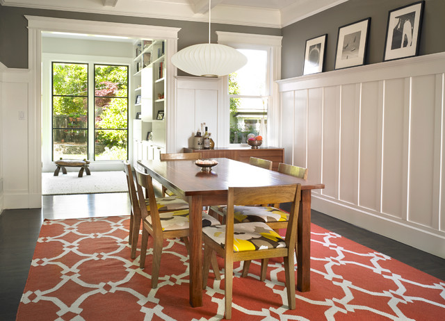 Modern Dining Room - Contemporary - Dining Room - San Francisco - by on high ceilings, dado rail, high desks, high baseboards, high bars,