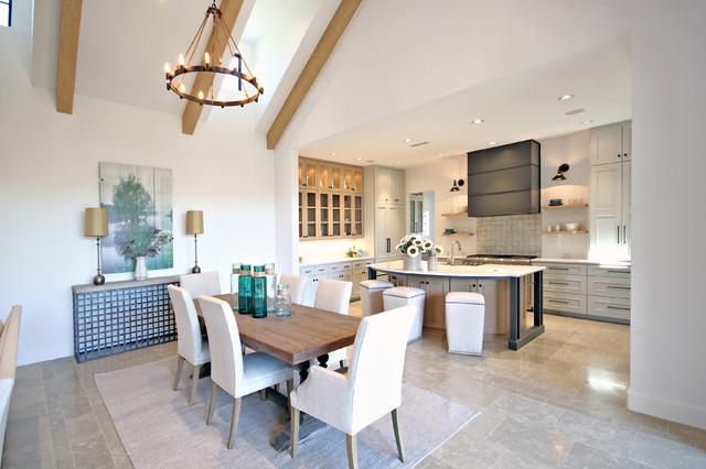 Dining room - modern dining room idea in Dallas