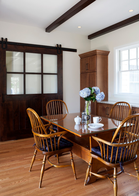 Modern Farm Style Farmhouse Dining Room DC Metro by AV Architects B