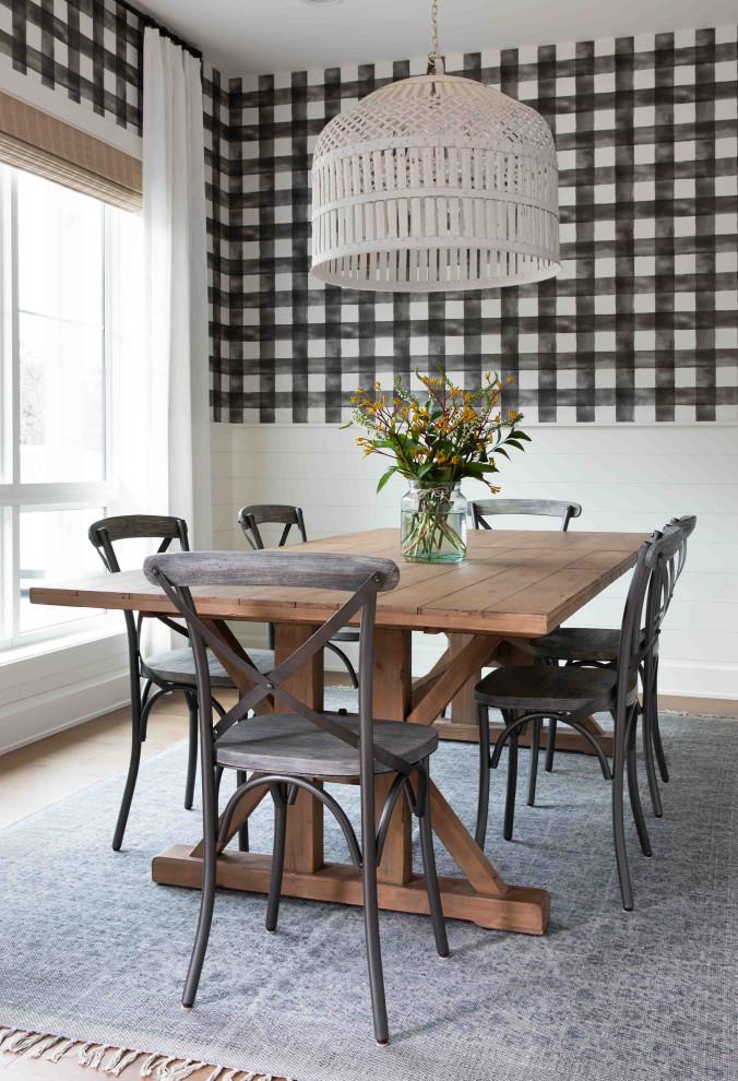 Modern Farmhouse Dining Room Wallpaper Farmhouse Dining Room Austin By Nuela Designs