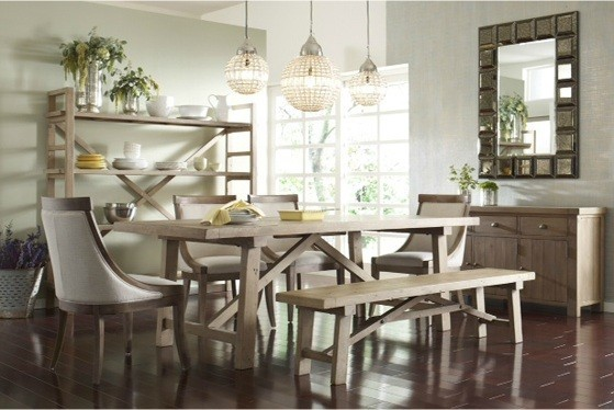 Cottage dining room photo in Charlotte