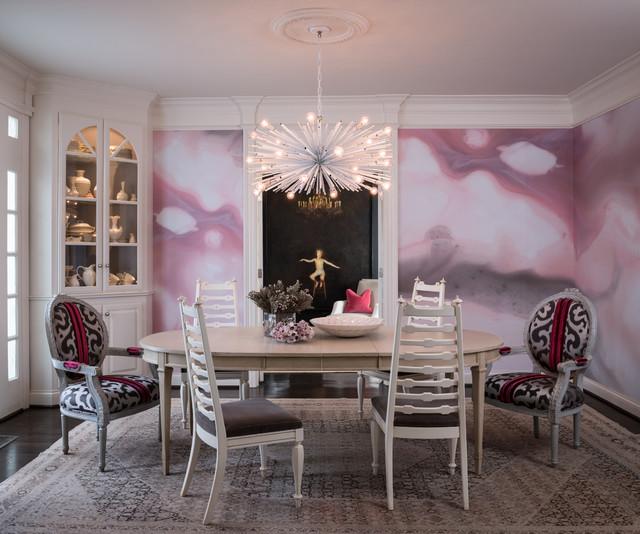 Modern Glam Transitional Dining Room Nashville By