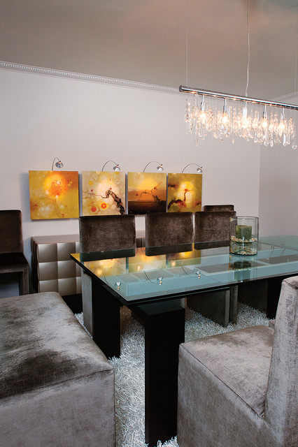 Modern Glam Modern Dining Room Atlanta By Burns