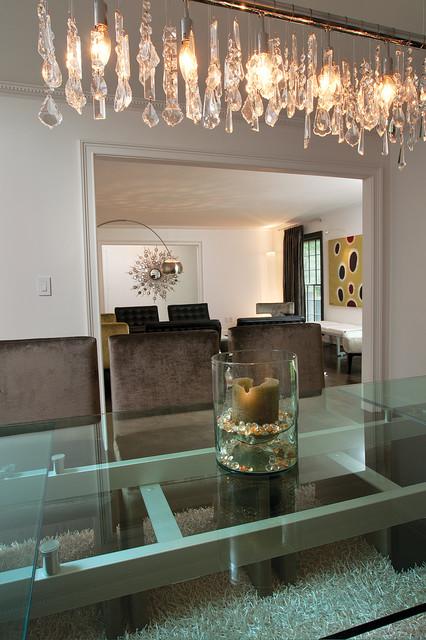 Modern glam modern dining room atlanta by burns for Glam interior design