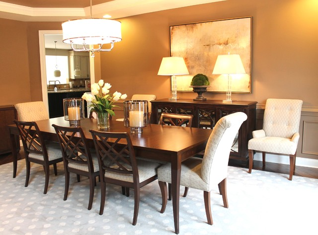 Modern glam dining room for Glam dining room ideas
