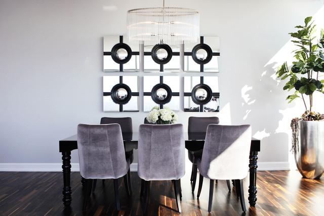 Modern Glam Luxury Condo Dining Room