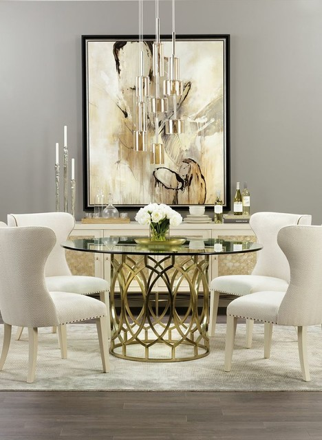 Modern Glamour Salon dining traditional-dining-room
