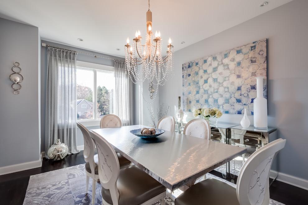 Dining room - modern dining room idea in New York