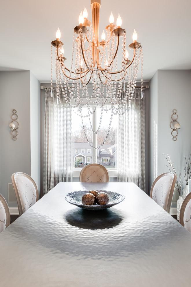 Minimalist dining room photo in New York