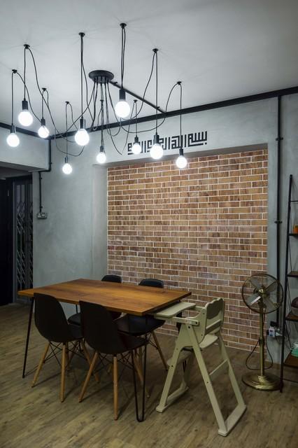 Interior Designers \u0026 Decorators. Modern Industrial Concept HDB 5room scandinavian-dining-room & Modern Industrial Concept HDB 5room - Scandinavian - Dining Room ...