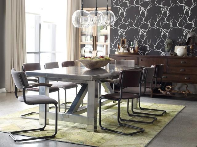Modern Industrial Dining Room - Industrial - Dining Room ...