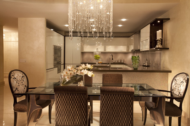 Modern interior design at the jade beach contemporary for Interior decoration of dining room