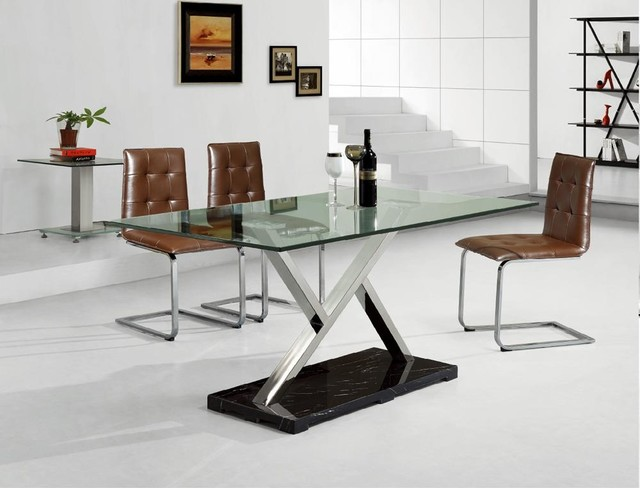 modern metal furniture contemporary dining room