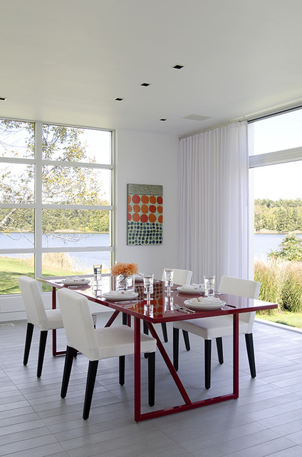 Modern modular in maine modern dining room portland maine by james r salomon photography - Modular dining room ...