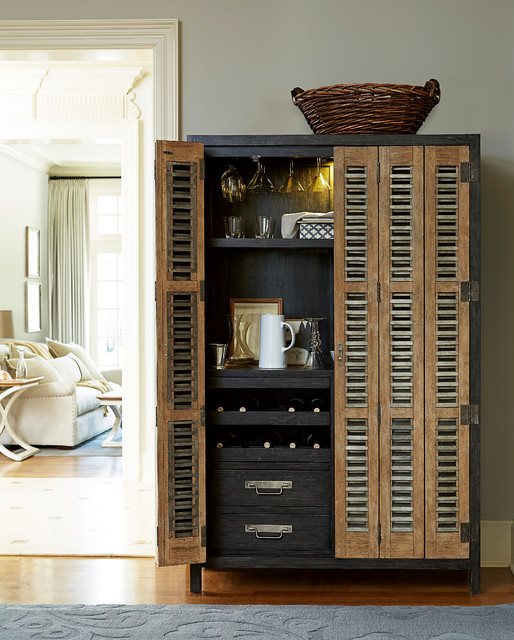 Modern muse bar cabinet industrial dining room miami for Cabine el dorado