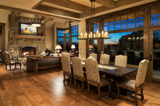 Modern Ranch Rustic Dining Room Minneapolis By