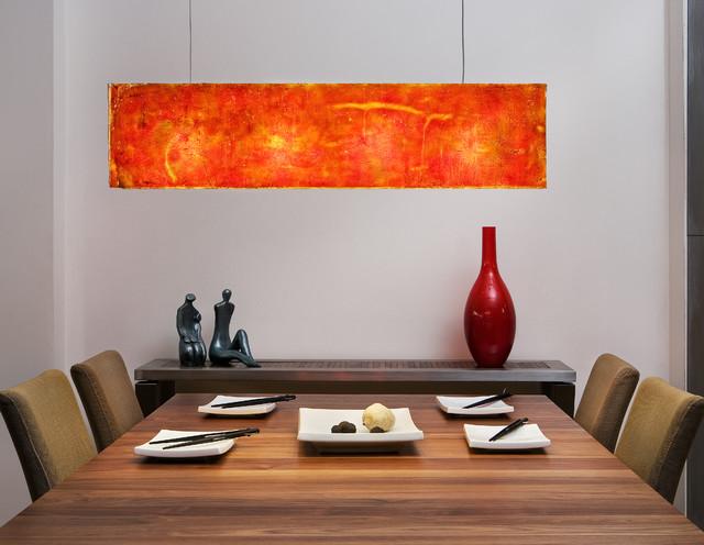 Art glass chandelier  - modern chandelier by GalileeLighting modern-dining-room