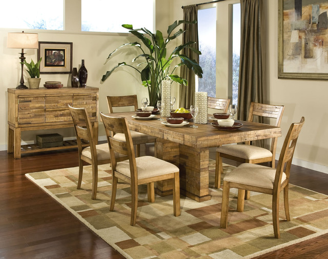 Modern Rustic Dining Room Chairs modern rustic dining room - contemporary - dining room - other
