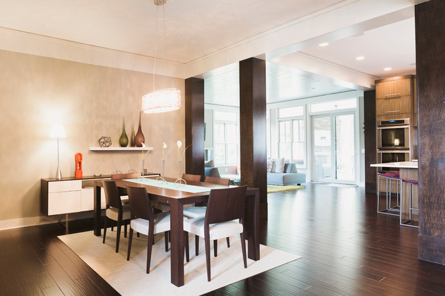 Modern Single Family Home Contemporary Dining Room