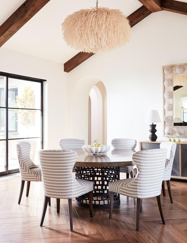 Modern Spanish Revival Mediterranean, Dining Room In Spanish