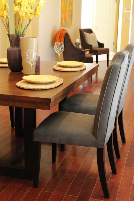 Modern Vibe with Traditional Furnishings contemporary-dining-room