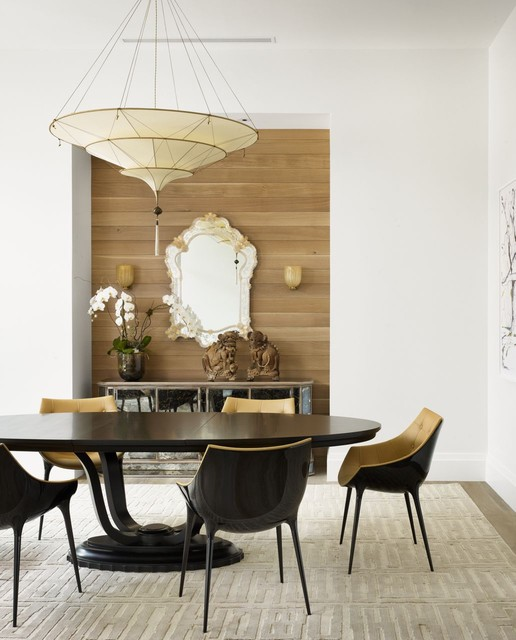 contemporary dining room by Risinger Homes