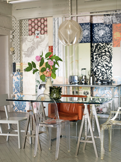 modern vintageemily chalmers - shabby-chic style - dining room