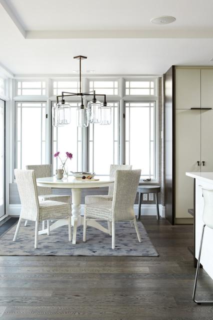 Modern White Kitchen transitional-dining-room