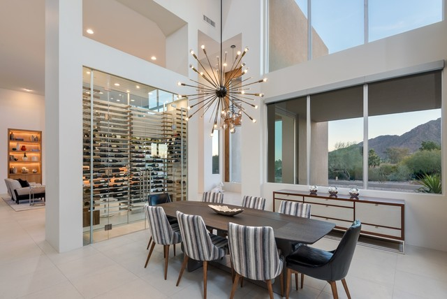 Modern With Mountain Views Contemporary Dining Room