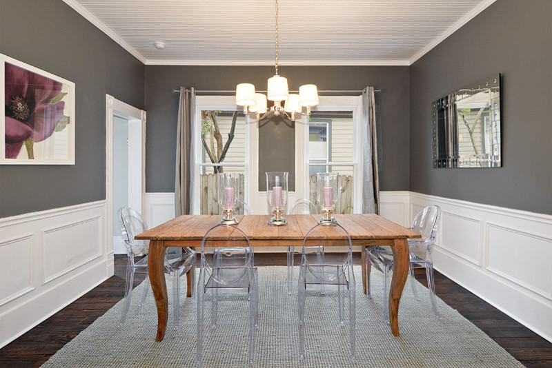 Inspiration for a timeless dining room remodel in Austin