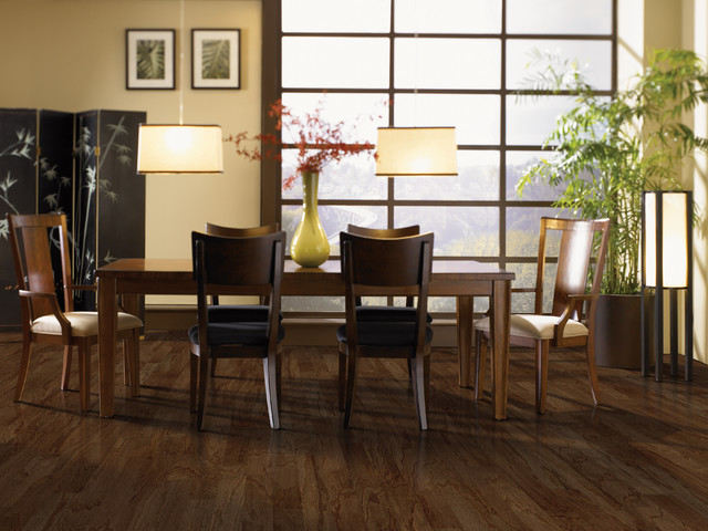 Mohawk hardwood for Asian dining room