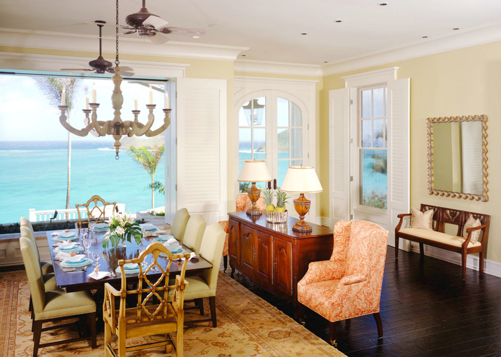 Inspiration for a tropical dining room remodel in Tampa