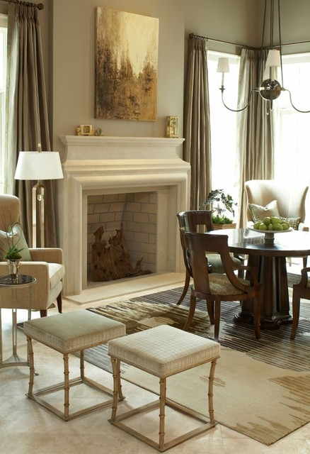 Mont richard stone fireplace mantel francois co for Dining room with fireplace