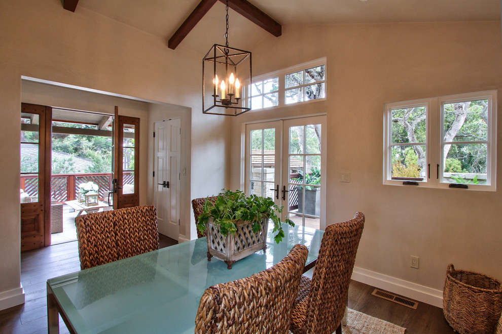 Example of a transitional dining room design in Other