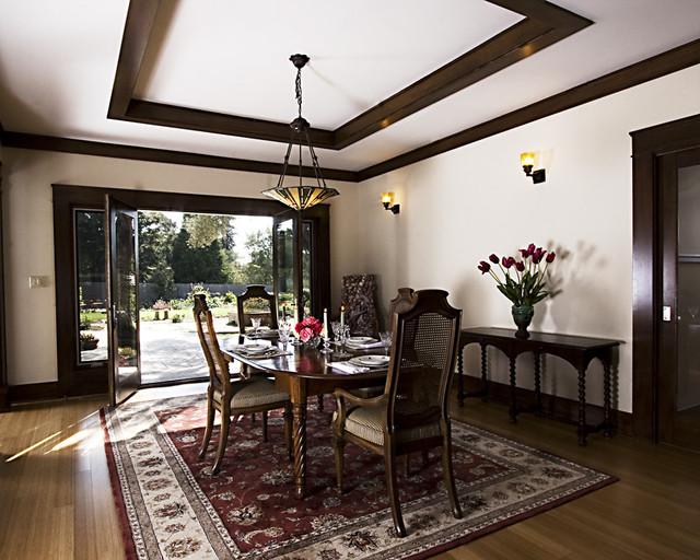montecito craftsman dining room traditional dining room santa
