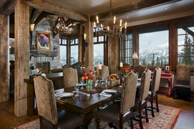 Moonlight Ranch Residence Rustic Dining Room Other