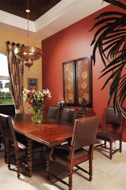 Moroccan Dining Room - Mediterranean - Dining Room - Miami ...