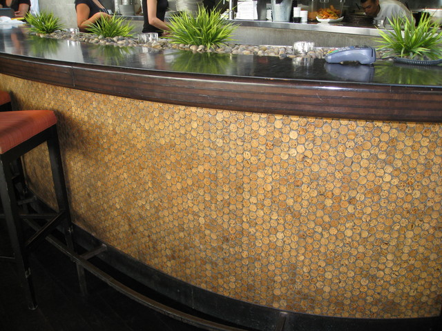 mosaic cork wall tiles - modern - dining room - hawaii -design