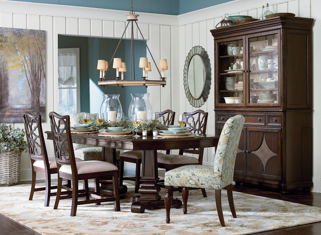 Moultrie Park Double Pedestal Dining Table By Bassett Furniture Traditional  Dining Room