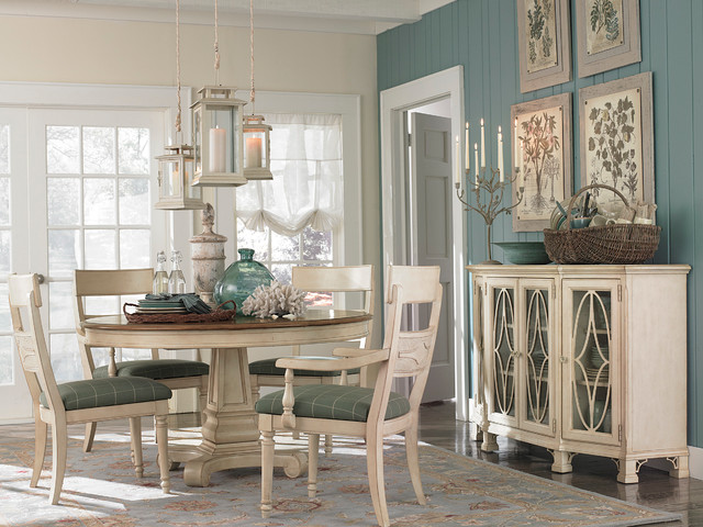 Moultrie Park Round Dining Table By Bassett Furniture Contemporary Dining  Room